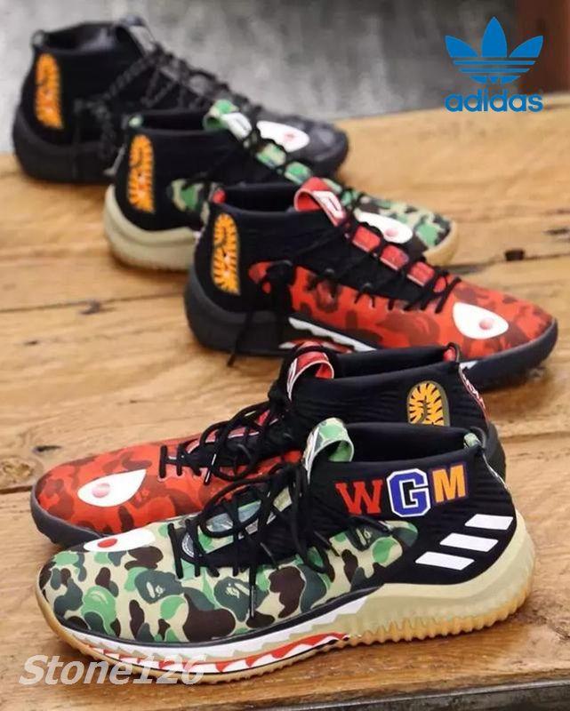 34d4cc966786 ... adidas dame 4 bap e green grey red camo man basketball shoes wgm sport  sneakers damian