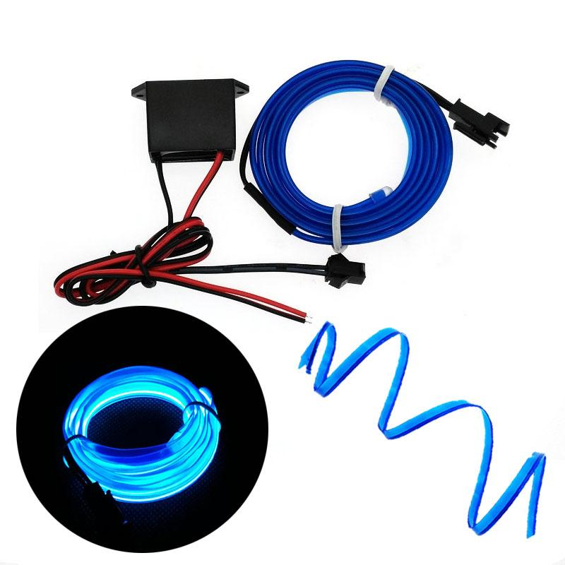 El Wire 6mm Sewing Edge Neon Car Lights Dance Party Car Decor Light ...