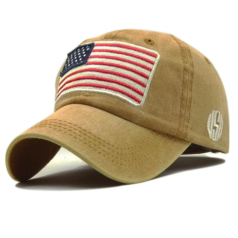 e24ca664f001e3 Patchwork Embroidery USA Flag Baseball Cap Men Women Washed Cotton Snapback  Cap Hat Bone Letter Trucker Adjustable Gorras Richardson Hats Headwear From  ...