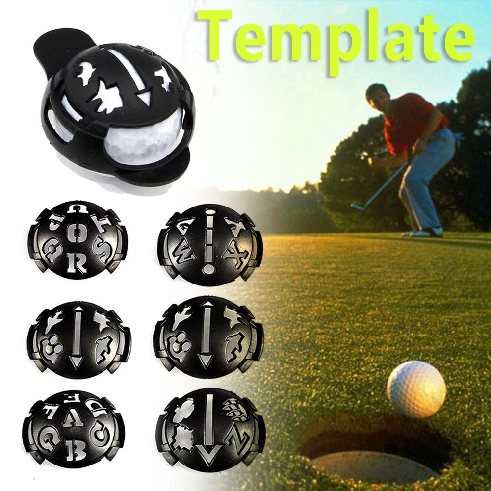 2018 Mark Golf Ball Stencil Marker Template Drawing Line Kit Pen