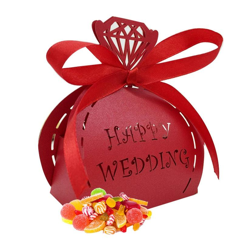 Wedding Favor Gift Boxes Packaging Candy Cookie Boxes Birthday Party Favor Bags Candy For Festival Event Party Supplies