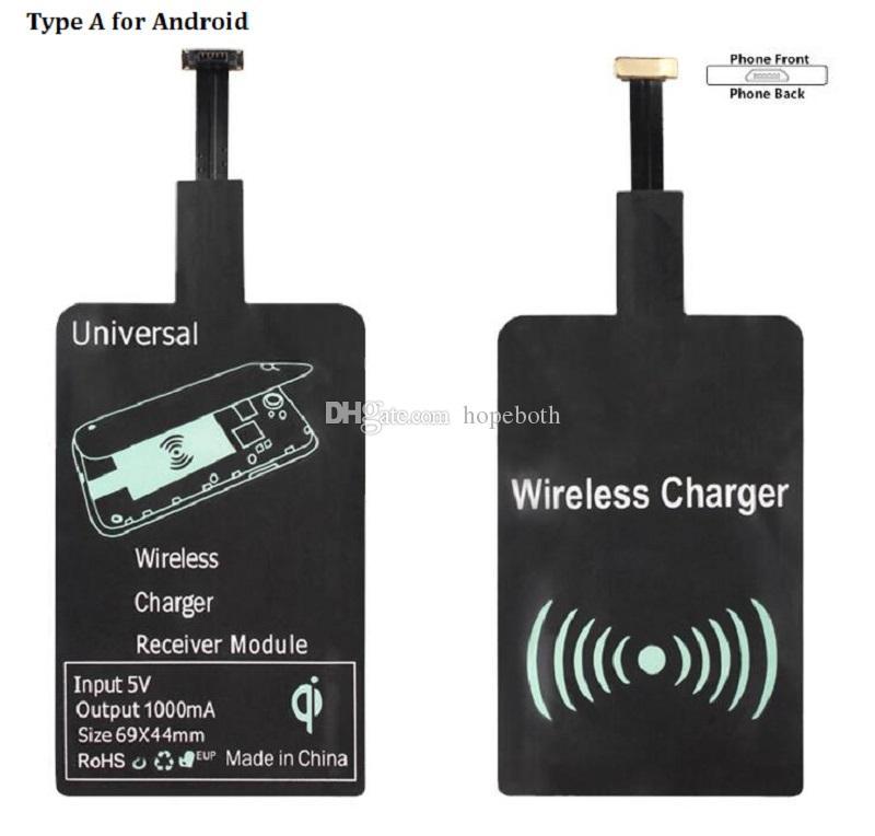 Универсальный тип C Micro Usb Qi беспроводное зарядное устройство приемник зарядки Pad адаптер рецептор для Samsung Galaxy S5 S3 S4 примечание 2 3 4 другой телефон
