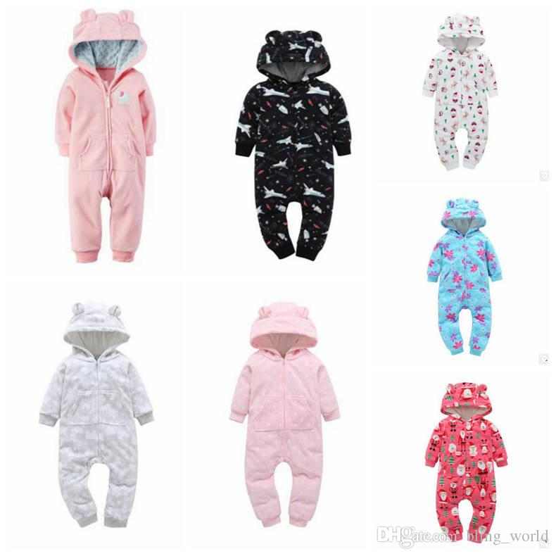 a39909e0b24b 2019 Kids Clothing Ins Baby Winter Rompers Boys Fleece Jumpsuits ...