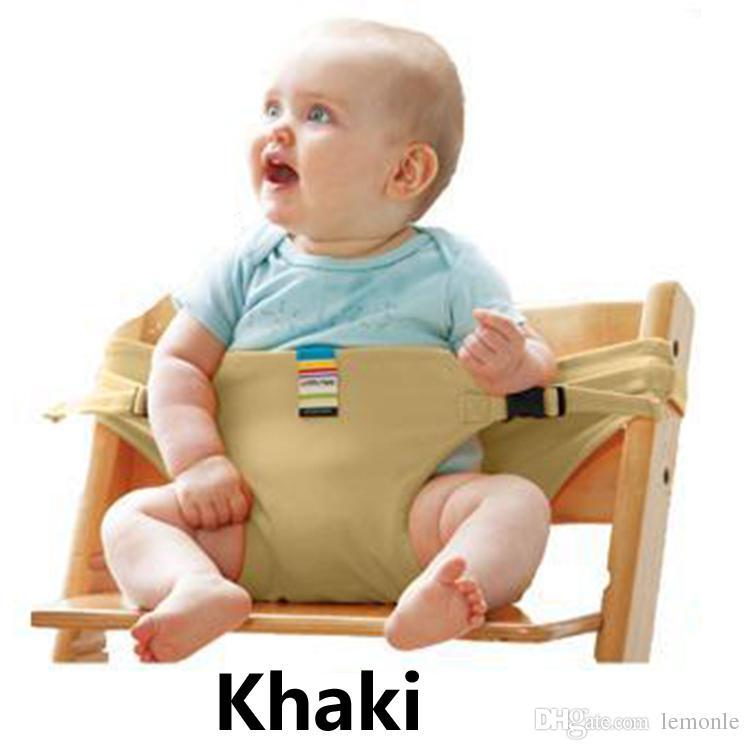 Katlanabilir Bebek Koltuğu Emniyet Kemeri Taşınabilir Koltuk Öğle Sandalye Streç Sarma Harness Bebek Booster Seat Feeding
