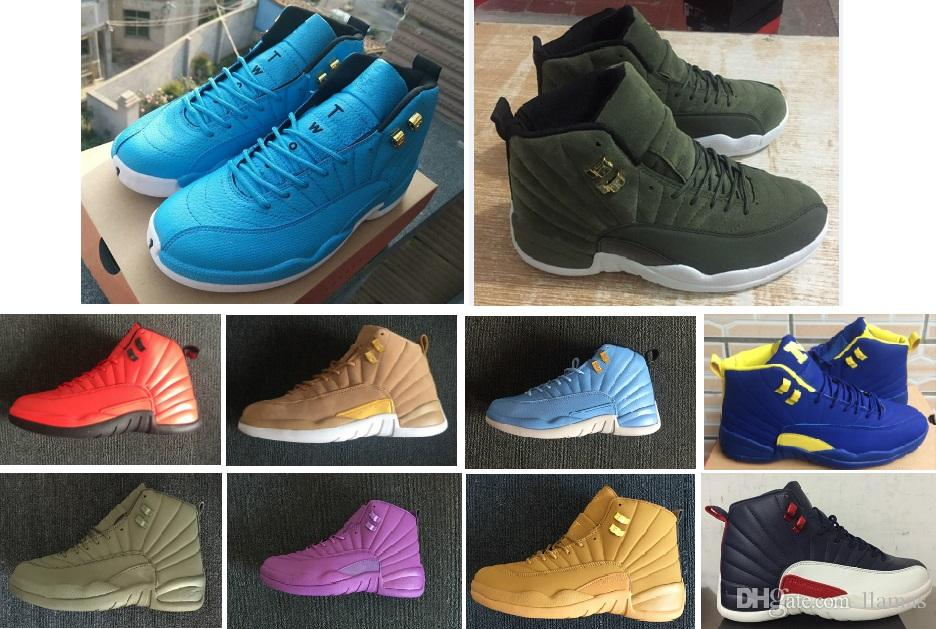 c86b8cd44d86a5 High Quality 12 12s OVO White Gym Red Master Basketball Shoes Men Women  Taxi Blue Suede Flu Game Olive Canvas Sneakers With Box Cheap Kid Sneakers  Sneakers ...