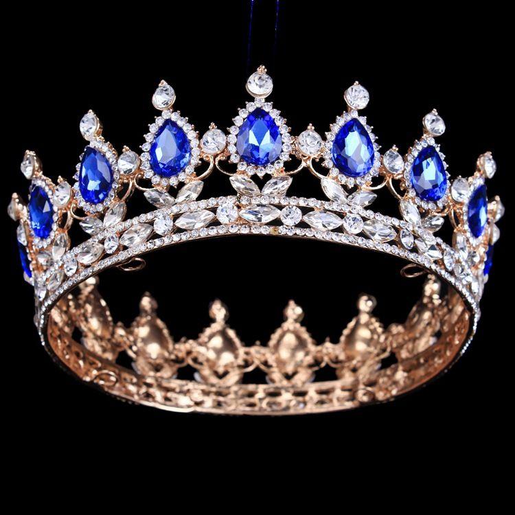 Luxury Bridal Crown Rhinestone Crystals Royal Wedding Crowns Princess Crystal Hair Accessories Birthday Party Tiaras Quinceaner Sweet 16