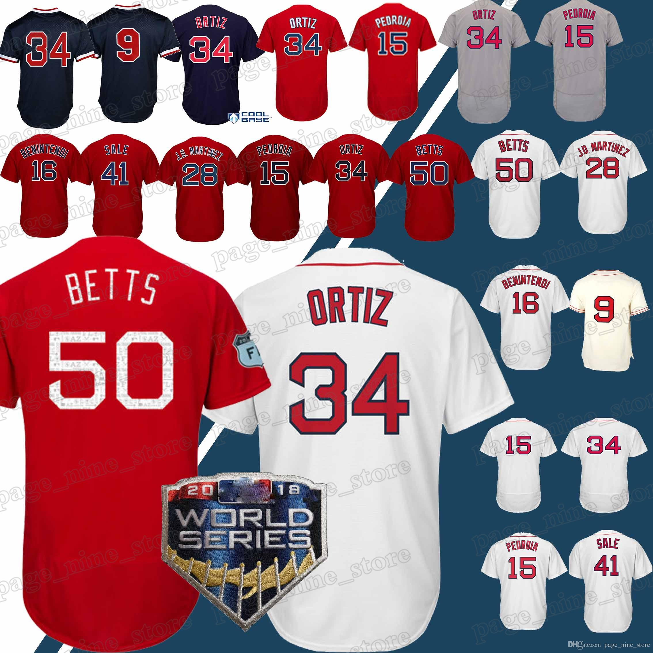 9a321733 ... aliexpress optional championship boston red sox jersey 50 mookie betts  jersey 9 ted williams 28 j d