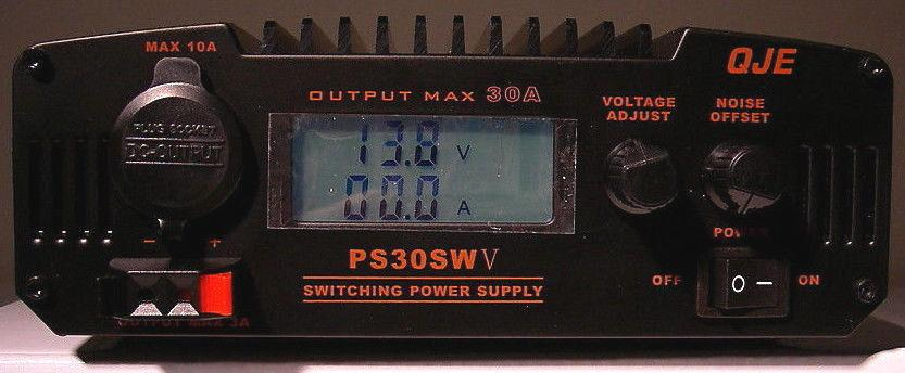 NEW QJE PS30SWV 30 Amp 13 8vDC Switching Power Supply with Digital Volt/Amp  Meter for ham radio