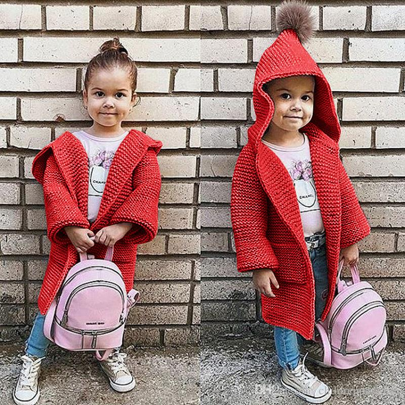 a7a12534b85b Kids Hooded Cardigan European And American Style Baby Girls Full ...