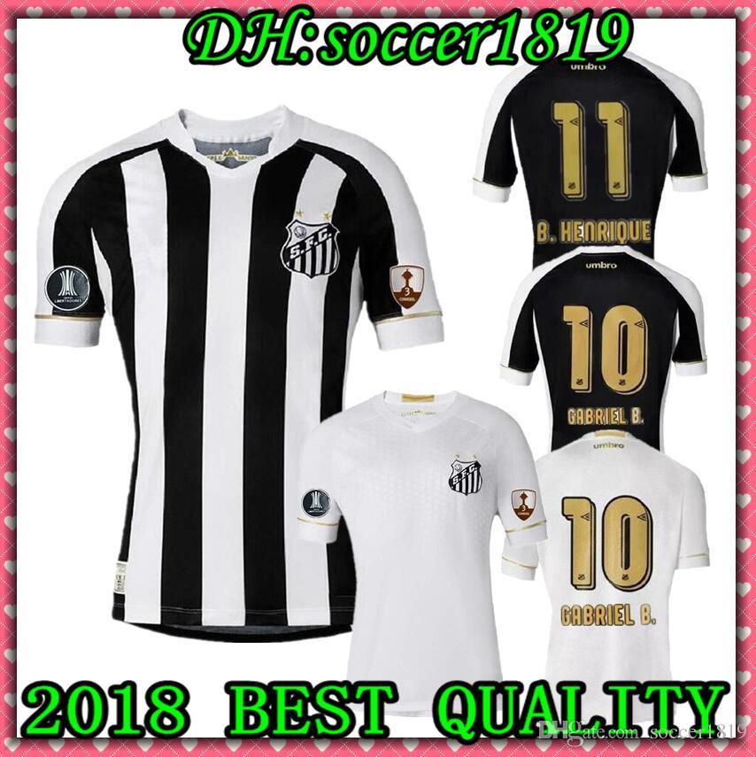 2019 2019 Brazil Santos Club Soccer Jerseys 18 19 Santos Home Oliveira  Soccer Shirt Away Henrique Copete Kayke Short Sleeved Football Uniforms  From ... 847b11bbef3b4