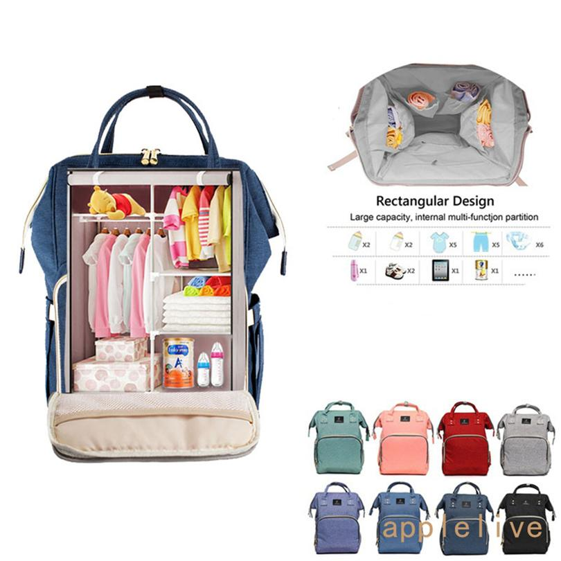 2019 Large Multifunctional Baby Nappy Diaper Bag Oxford Backpack Mummy  Changing Bags Stuff Sacks 2018 From Mcperspective c3ed00f60b8e8