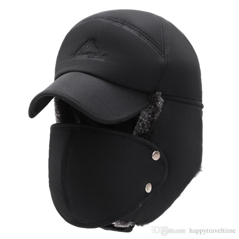 a1fa176f5af Unisex Winter Trooper Trapper Hat Detachable Face Mask Ear Flap ...