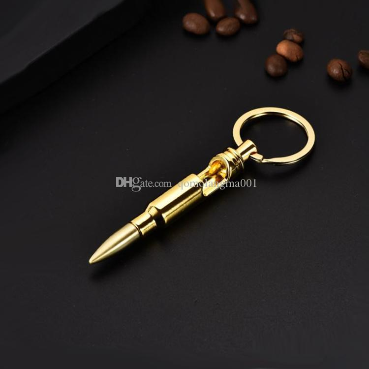 New hot sale Creative metal personality Bullet Beer bottle opener Key ring pendant Bottle opener