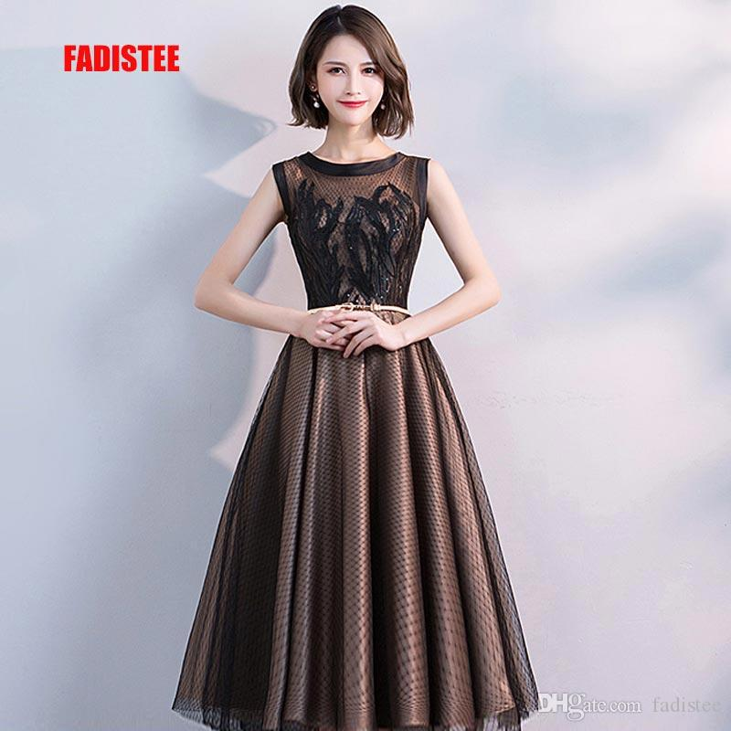 4073068630 FADISTEE Hot Sale Elegant Cocktail Dresses Evening Dress Party Dresses Lace  Short A Line Modern O Neck Zipper Classic Little Black Dress Size 16  Cocktail ...
