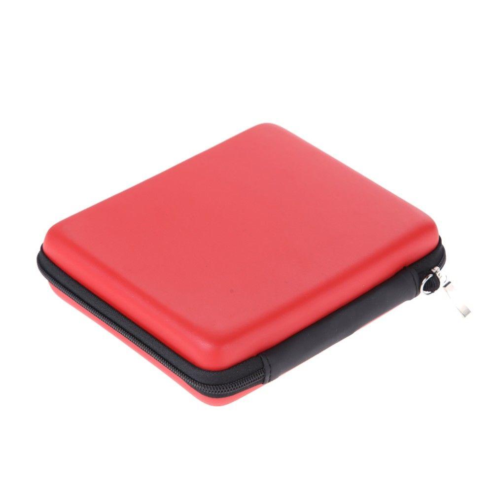 Haute qualité rouge anti-choc EVA protection housse de protection sac avec bandoulière pour console nintendo 2 ds pour disque dur téléphone flash usb