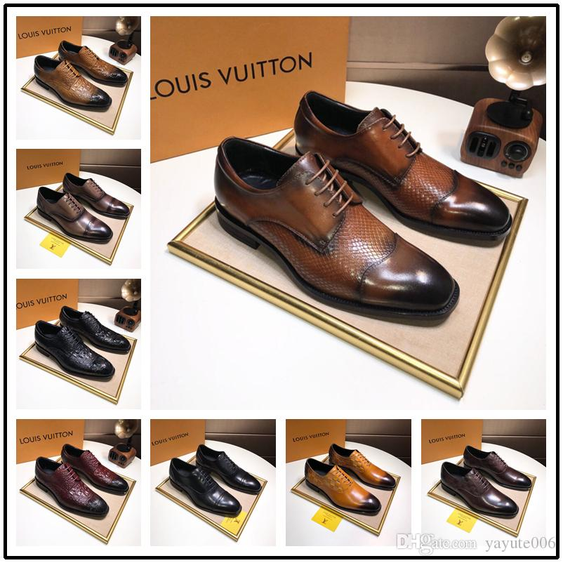 e1d67c8ae89ee 2018 Top Quality brand Formal Dress Shoes For Gentle Men Black animal  embroidery Genuine Leather Shoes Pointed Toe Men's Business Oxfords