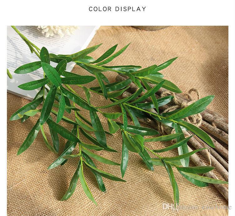 Recién liberado Vivid pieza sola hoja de Aritificial flor para la decoración del hogar Decoración de bodas y eventos de alta calidad