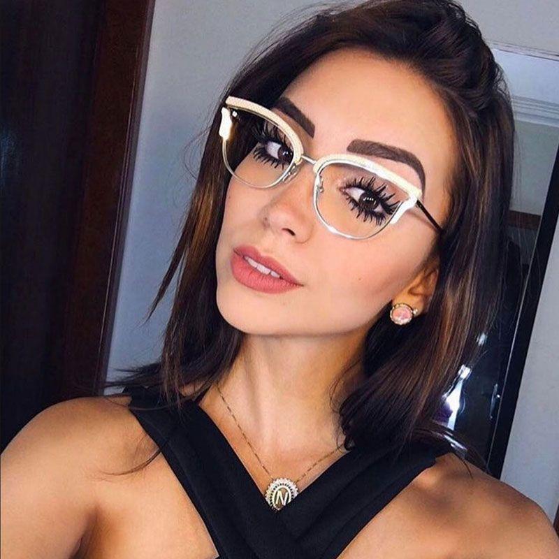 4067345c965a Knotolus Optical Lens Glasses Women For Sun Brand 2018 Luxury Men Transparent  Cateye Sunglasses Vintage Floral Frame Eyeglasses Designer Glasses  Sunglasses ...