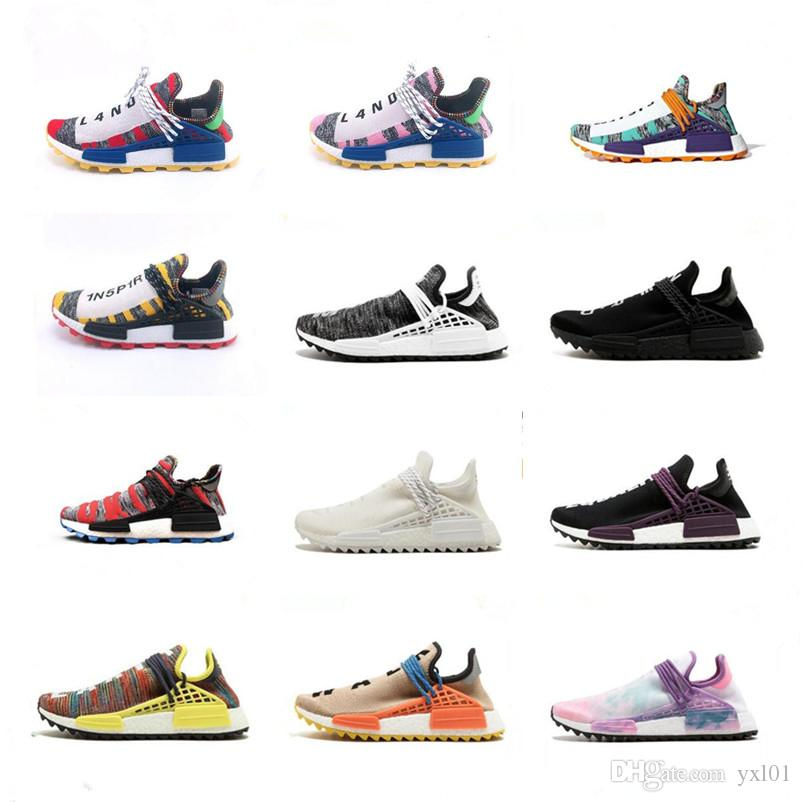 8ccf57b93 BBC X NERD Human Race Pharrell Williams Trail Solar Pack Running Shoes  Designer Chaussures Mens Women Trainers PW HU Sneakers Size 36 45 Shop  Shoes Men ...