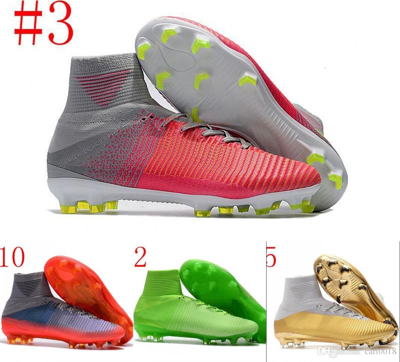best sneakers b99aa 7c75b Calzado Deportivo Exterior 2018 CR7 Botas De Fútbol Tamaño 35 45 Mercurial  Superfly V AG   FG Zapatillas De Fútbol Hombres   Mujeres   Niños Tacos De  Fútbol ...