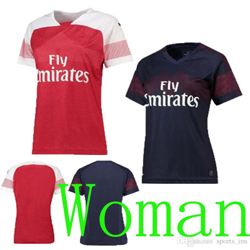 8d960d033ba ... shirt aubameyang 14 premier league 59701 3d58f italy 2018 thailand arsenal  soccer jersey woman home away 2 bellerin 9 lacazette 10 ozil 14 ...