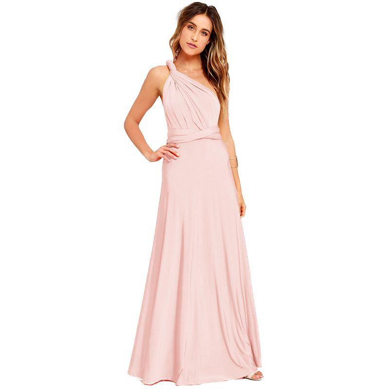 3e3ad3704f4 Women Summer Maxi Long Dress Solid Stretchy Convertible Multi Way Cross  Strap Bridesmaid Long Gown Elegant Dress For Wedding Sun Dresses Sale Women  Dress ...