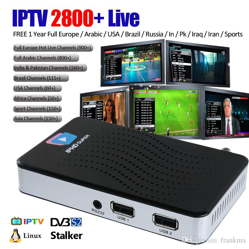 IPTV Android TV Box Premium with 2800+ Live Channels inside Full European Arabic French support APK IPHD,USB wifi X96 Mini