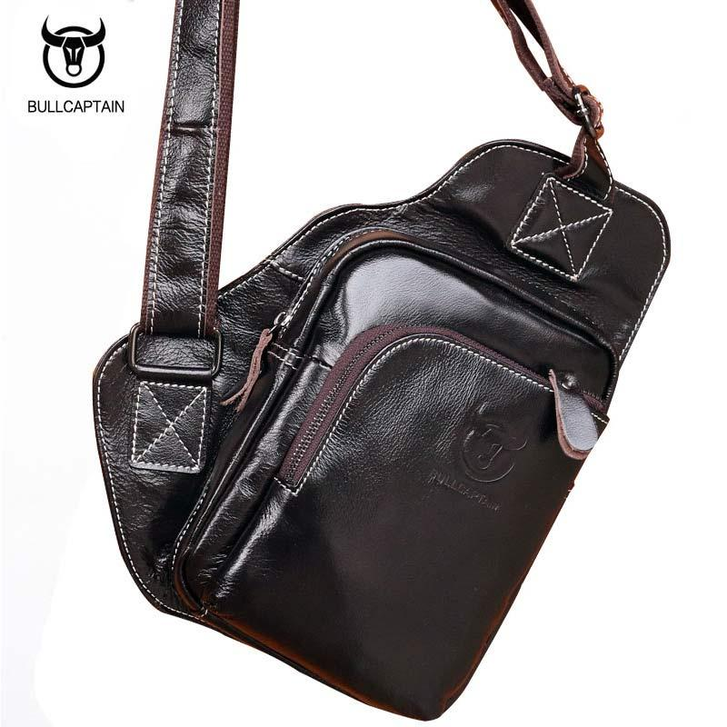 20dabfbb18 BULL CAPTAIN 2017 Bat Chest Bag Fashion Genuine Leather Men Shoulder Bags  Casual Crossbody Bag For Man Brand Male Messenger Bags Leather Bags For  Women ...