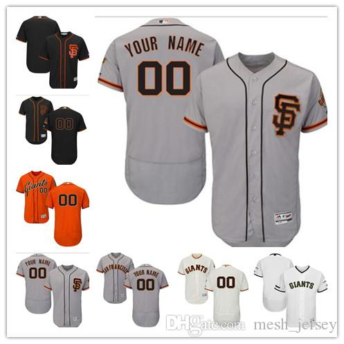 a1847c26b 2019 Custom Men S Women Youth San Francisco Giants Jersey  00 Any Your Name  And Your Number Home Orange Grey White Kids Baseball Jerseys From  Custom jerseys ...