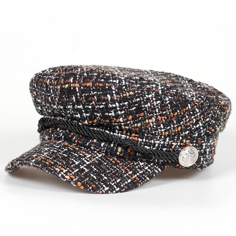 Großhandel Retro Elegante Winter Marke Hüte Mode Baumwolle Dicker ...