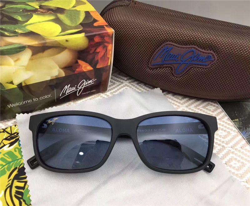 377cb5d662bb Classic Men Designer Sunglasses Mauijim MJ-284 Full Frame Square ...
