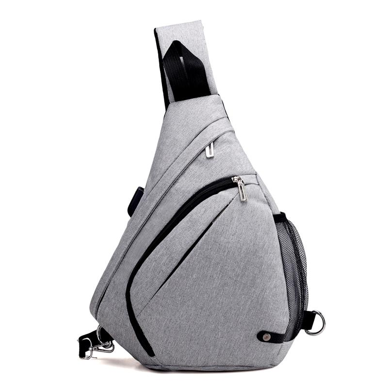 b7eb486ee6 Casual Chest Bag Gray Men Women Solid Bag Fashion Bucket Single Shoulder  Strap Chest Packs Anti Theft Waterproof Gray Small Bags Best Hiking Backpack  From ...