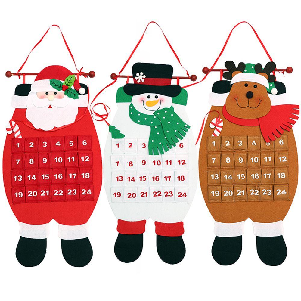 Christmas Advent Calendar Santa Claus Snowman Elk Xmas Party Decor ...