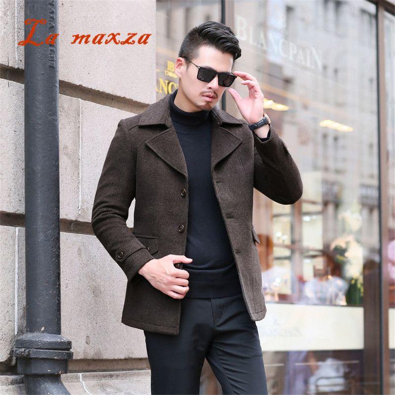 e2017210ca2 2019 2018 Smart Casual Mens Winter Coats Overcoats Fashion Slim Winter  Dress Coat New Arrivals 4XL From Hermanw