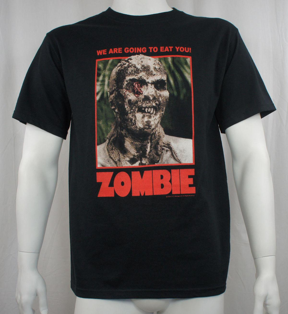 1946b73fb69 Authentic Lucio Fulci s Zombie Horror Movie Poster T-Shirt S M L XL 2XL 3XL NEW  T-Shirt Summer Style Men T Shirt White