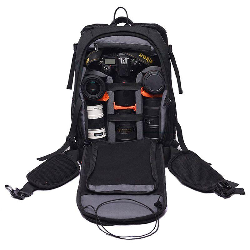 2019 Roadfisher Small Photo Video Bag Photography DSLR SLR Camera Backpack  Travel Mochila Insert 14   Laptop For From Camerashome