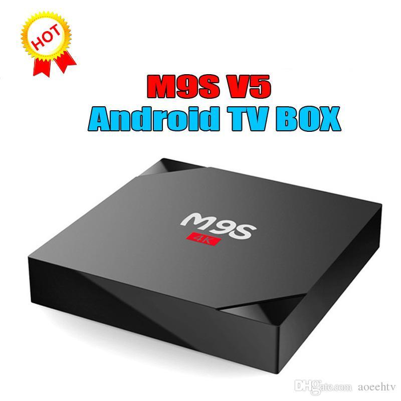 2018 New Arrival M9S V5 4K Set Top Box RK3229 Quad Core Android 6 0 TV Box  1G 8G Better than X96/QBOX/TX3/S950W