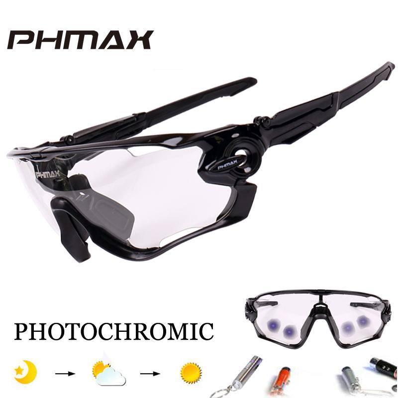 d7834dc827 Compre PHMAX Photochromic Polarized Ciclismo Bicicleta Óculos De Bicicleta  Ao Ar Livre Esportes MTB Bicicleta Óculos De Sol Óculos De Proteção Da  Bicicleta ...