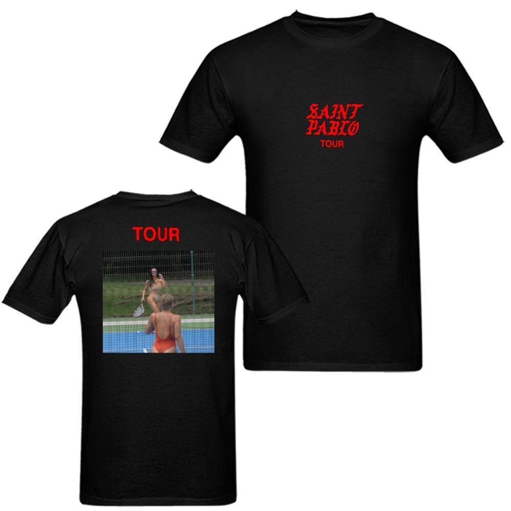 Kanye West Saint Pablo Tour Merch Kim K Tenniser T Shirt Men Tee