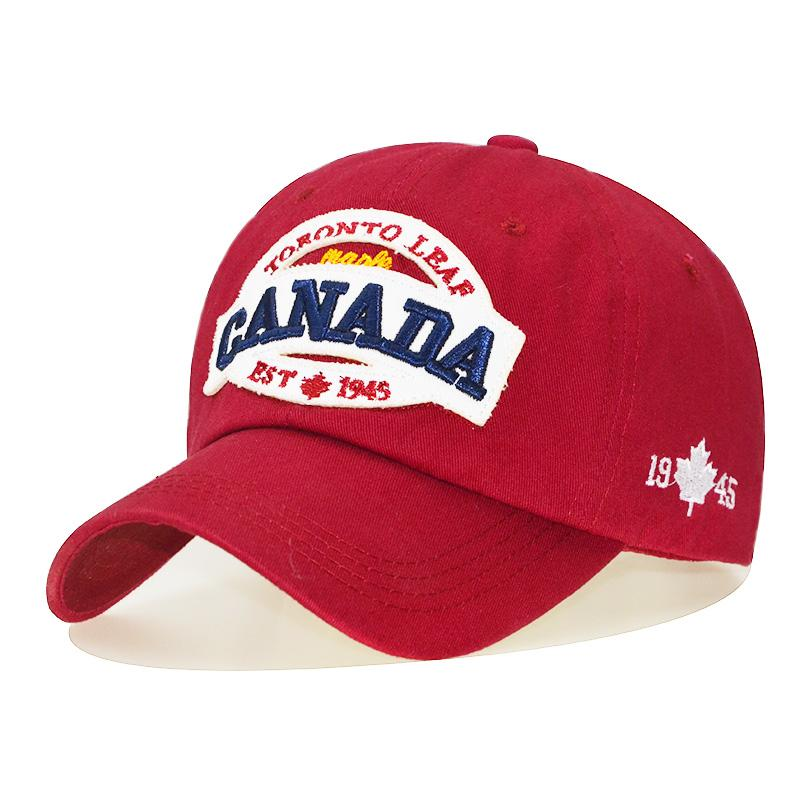 3504efdb7 2018 CANADA Baseball Caps Women Patch Dad Hat for Men Letters embroidered  snapback cap Black cap Unisex cotton Leisure