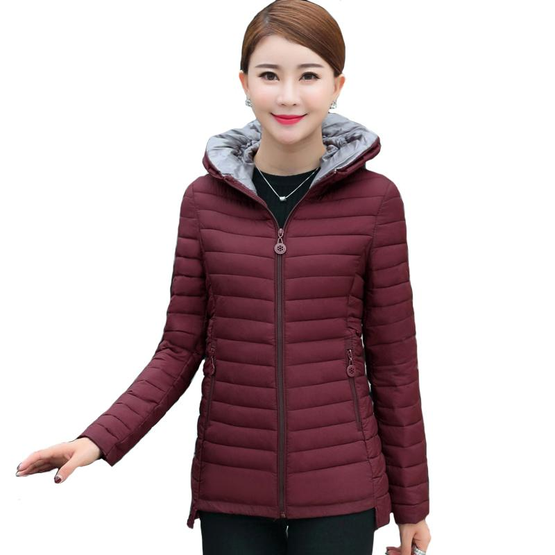3a6da2b759f 2018 Short Women Coat Autumn Winter Womens Basic Jacket Female Cotton  Casual Padded Plus Size 4XL 5XL Casaco Feminino Y18102401 Online with   63.15 Piece on ...