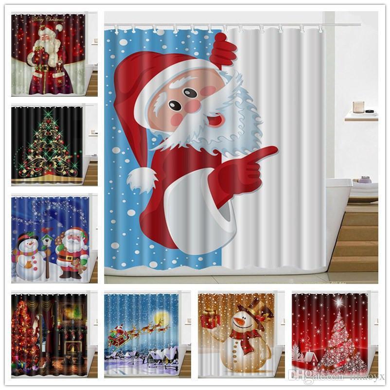 Großhandel Winter Urlaub Frohe Weihnachten Glückliche Duschvorhang ...