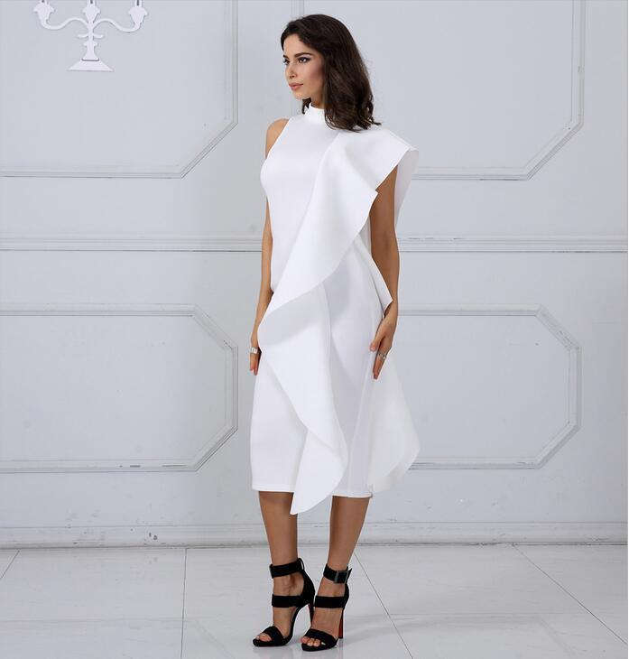 2019 New Style Spring Dress Adyce 2018 Women Sexy White Sleeveless  Patchwork Ruffles Bodycon Vestidos Celebrity Party Dress Clubwear From  Parrot love999 8cb644ab6126