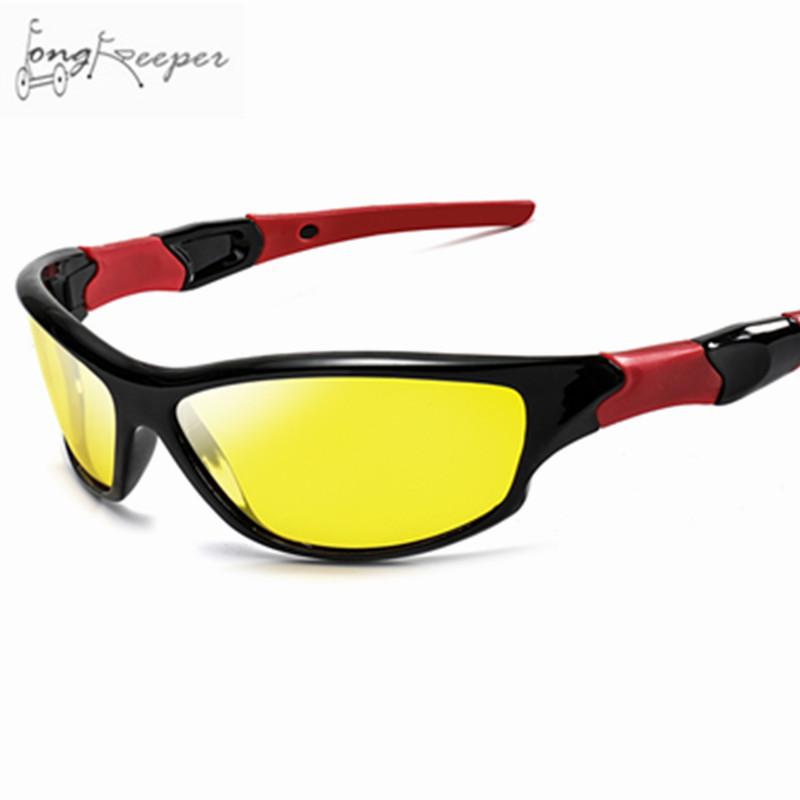 413b7270e8b6 2019 Long Keeper 2018 Men Women Polarized Sunglasses Cycling Yellow Night  Vision Mens Sun Glasses Driving Goggles Biking Eyewear From Ahaheng