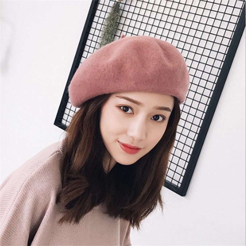 651b98d4a1afb 2019 2018 New Hot Womens Winter 100% Wool Hat Berets Female Cap Handmade  Strap Crossing Bow Newsboy Hats For Women Artist Cap From Spectalin