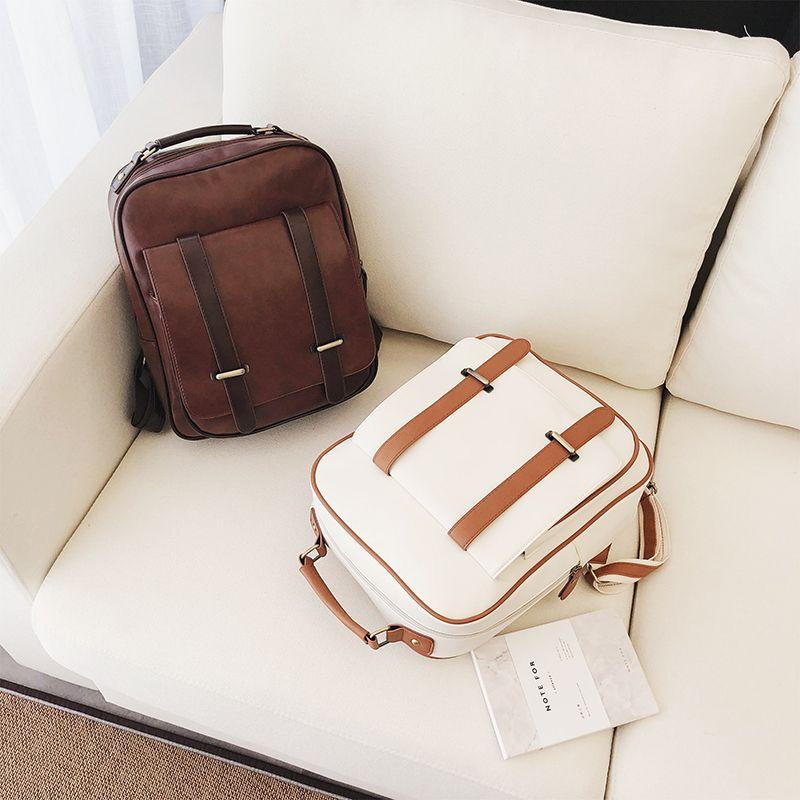 80a72b1e4a6e 2018 Fashion Women Backpacks PU Leather Backpack Shoulder Bags Daypack For Women  Female Rucksack Feminine Mochila Toddler Backpack Kelty Backpack From ...