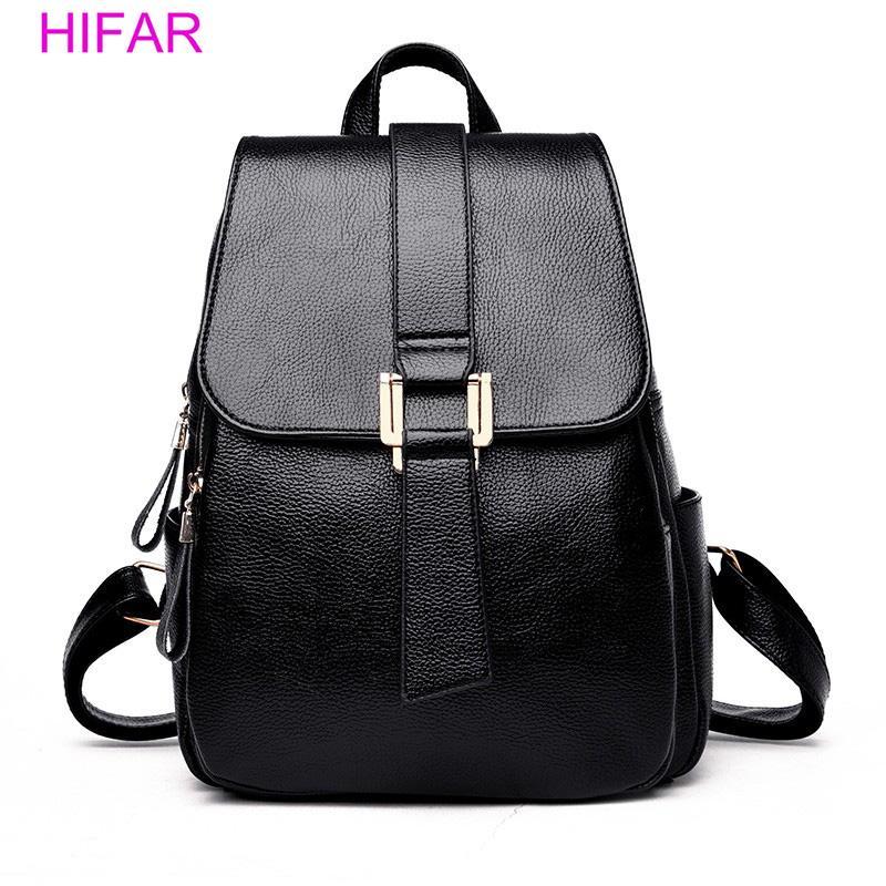 32de917ee70 2018 Women Leather Backpacks Vintage Female Shoulder Bag Sac a Dos Travel  Ladies Bagpack Mochilas School Bags For Girls Preppy