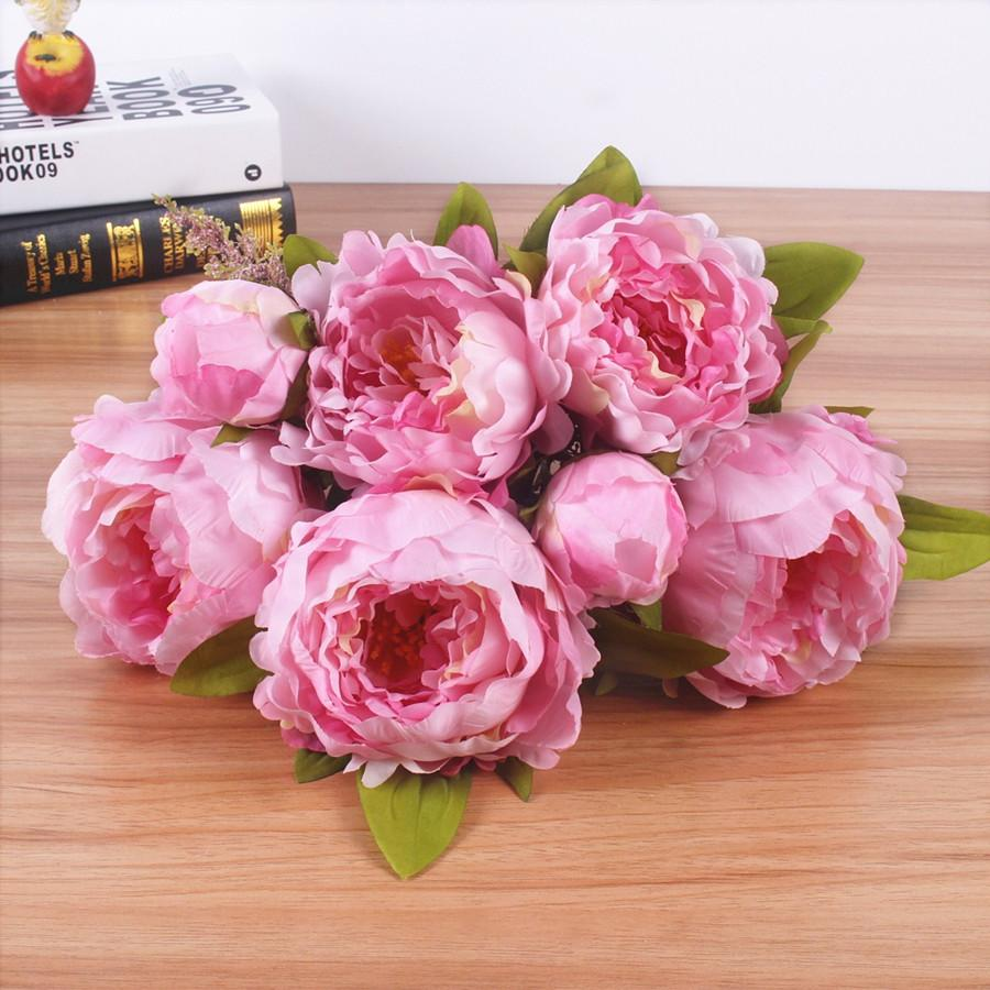 2018 decorations artificial dried flowers jarown 7 headsbunch new 2018 decorations artificial dried flowers jarown 7 headsbunch newlk simulation artificial flower peony flower bouquet for wedding tabl izmirmasajfo Images