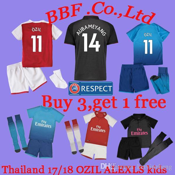 9d429f62a 2019 Thailand 2017 2018 Premier Football Shirts Home Kids Kit Soccer  Jerseys OZIL Jersey ALEXLS Jersey WILSHERE KOLASINAC 18 19 Football Shirt  From ...
