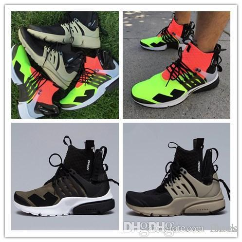 2018 New Acronym X Presto MID Low Top White Black running shoes for men Designer Mens sports Trainers Chaussures zapatos sneakers 7 12